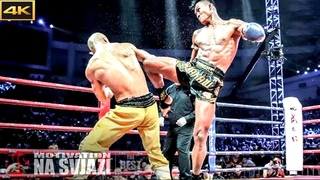Muay Thai Warrior Destroys Shaolin Kung Fu Monk  /  Don't Mess With Thai Fighters