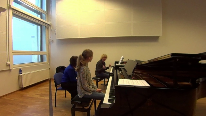 04 10 2019 Mira Marchenko and Lilian Hindrikson Master classes at the 'YOUNG MUSICIAN 2019' EAMT