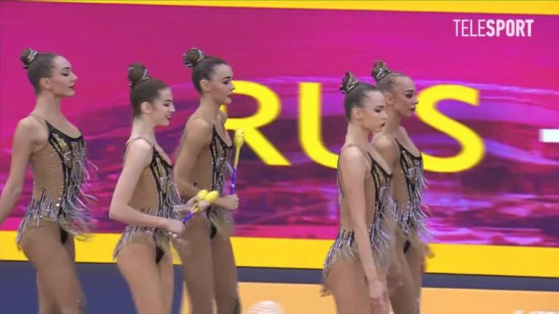 Сборная России - 3 обруча 2 пары булав (многоборье) Чемпионат Мира 2019, Баку