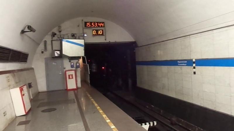 Метропоезд Санкт-Петербурга 9-163: метровагон 81-717 (ЛВЗ), б. 8542 - 2 линия (27.06.19)