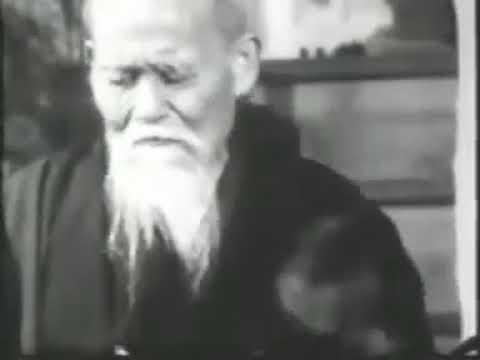 Айкидо | Редкое видео с участием О-Сенсея | Тренировка, молитва и Ки-ай