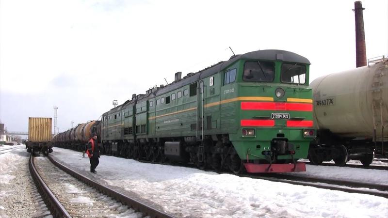 Тепловоз 2ТЭ10М 3422 в ст Валга 2TE10M 3422 at Valga station