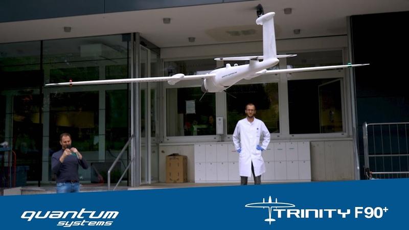 Использование Quantum-Systems Trinity F90 UAV для доставки вакцины.