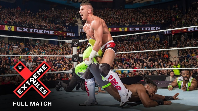 FULL MATCH Cesaro Tyson Kidd vs The New Day WWE Tag Team Titles Match WWE Extreme Rules 2015