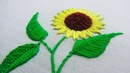 Hand Embroidery, Sunflower Embroidery, Inverted Buttonhole Stitch