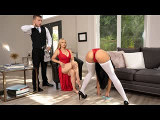Sarah vandella, kendra spade the baroness (threesome, deep throat, indoors, kitchen, 69, cowgirl, doggystyle, milf, blonde)