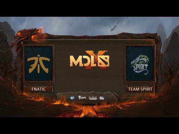 Fnatic vs Team Spirit, MDL Chengdu Major, bo3, game 2 [Adekvat Mortalles]