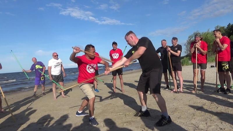 Pekiti Tirsia Kali single stick Summer camp on Baltic Sea with Tuhon Rommel Tortal Riga Latvia 13 07