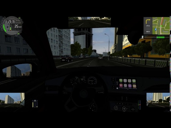 City Car Driving Yandex Taxi Moscow City Defender Forsage GTR