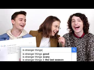Millie bobby brown, finn wolfhard & noah schnapp answer the web's most searched questions   wired