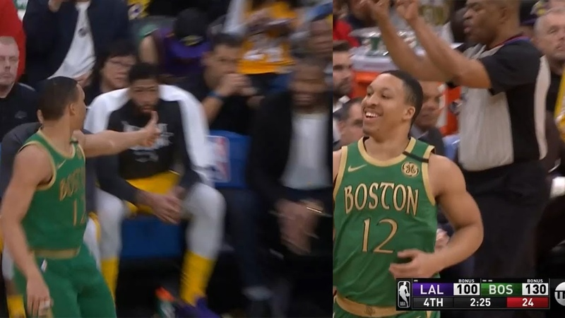 Grant Williams trolls DeMarcus Cousins after hits 3-pointer then gets a tech