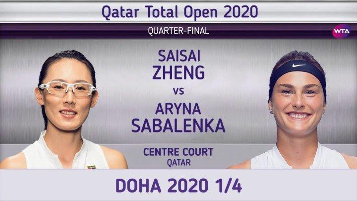 Сайсай Чжэн Арина Соболенко 1 4 Doha 2020 Saisai Zheng Aryna Sabalenka