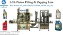 1-5Liter Piston Filling Capping Line Applied for 5Liter Lubricant Bottle Line at Site