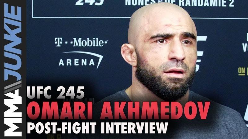 UFC 245 Omari Akhmedov post fight interview