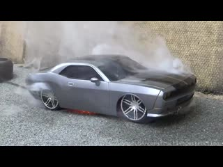 RC Car Burnout Ends In Flames -- RC Car Destruction+RC models