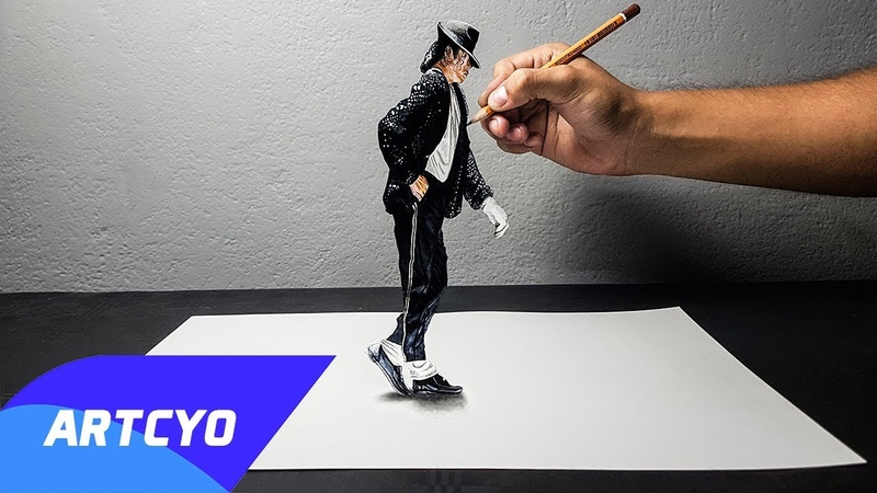 Disegno 3D di Michael Jackson Moonwalk ART CYO
