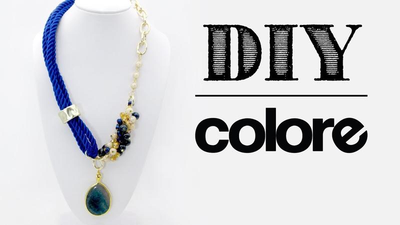 DIY Collar Hilo de Seda y Cadena Colore Accesorios