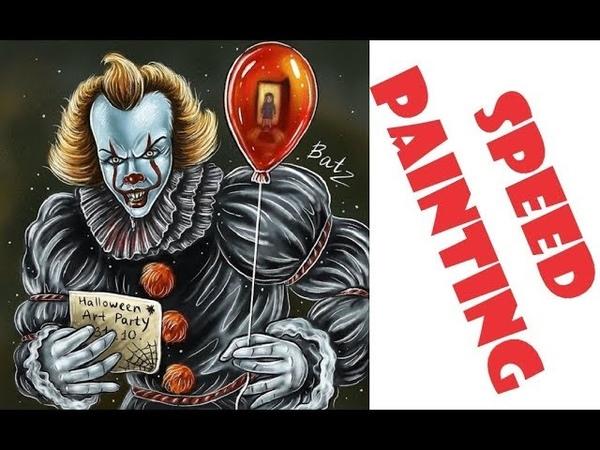 Как нарисовать Пеннивайз танцующего клоуна из фильма Оно