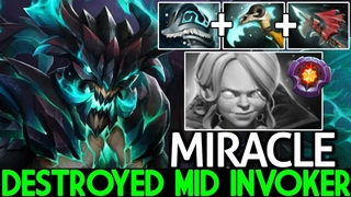 MIRACLE [Outworld Devourer] Pro Counter Plays Destroyed Mid Invoker  Dota 2