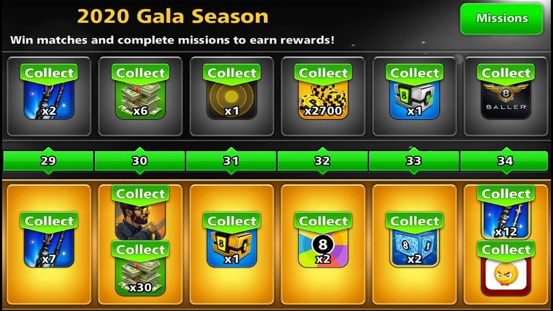 8 ball pool Unlock All Rewards Pool Pass 😲 Max Rank 34