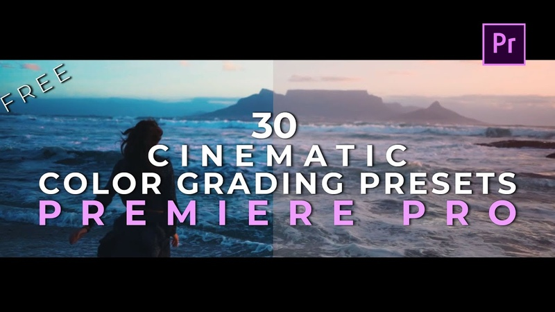 30 Cinematic Color Grading Luts Presets Pack for Adobe Premiere Pro