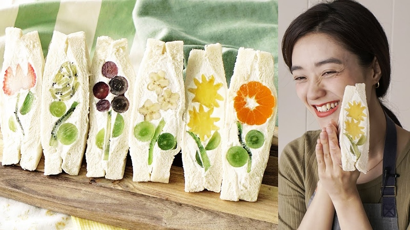 きゅうりめし お花のフルーツサンドの作り方 ピクニック