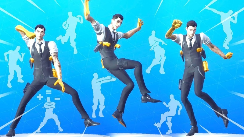 FORTNITE *MIDAS* SKIN LOOKS FANTASTIC WITH THESE EMOTES Billy Bounce Dream Feet Infectious