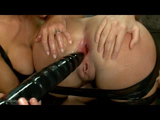 Veronica Avluv, Cassandra Nix - Anal Slave gets Dominated by Sexy Mistress in Latex, Milf, Squirt, BDSM, Gape, Bondage