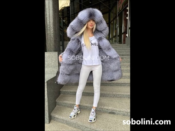 Blue frost royal fur Bluefrost parka very beautiful full of fur inside order from us TM Sobol
