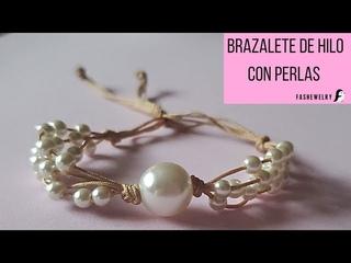 brazalete de 4 hilos con perlas de la tienda fashewelry