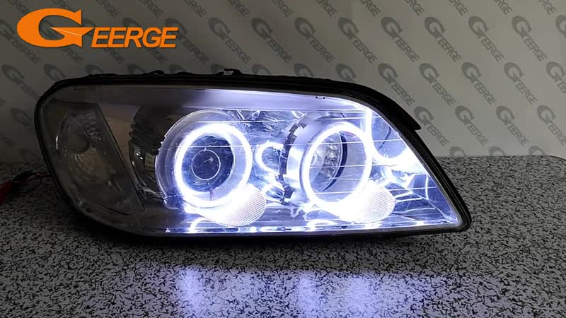 For Chevrolet Captiva S3X 2006 2007 2008 2009 2010 Excellent Ultra bright illumination COB led angel eyes kit halo rings
