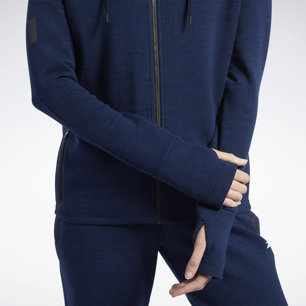 Худи United by Fitness Doubleknit Full-Zip image 6