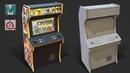 Autodesk Maya 2019 Substance Painter Stylized Arcade Cabinet