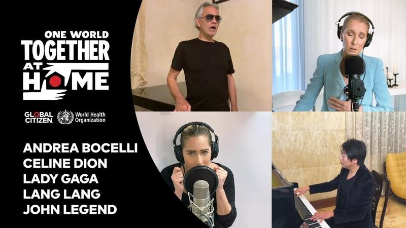 Celine Dion Andrea Bocelli Lady Gaga Lang Lang John Legend perform The Prayer OW TAH