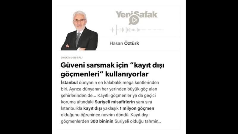 """083. Hasan Öztürk - Güveni sarsmak için """"kayıt dışı göçmenleri"""" kullanıyorlar - 29.10.2019.mp4"""