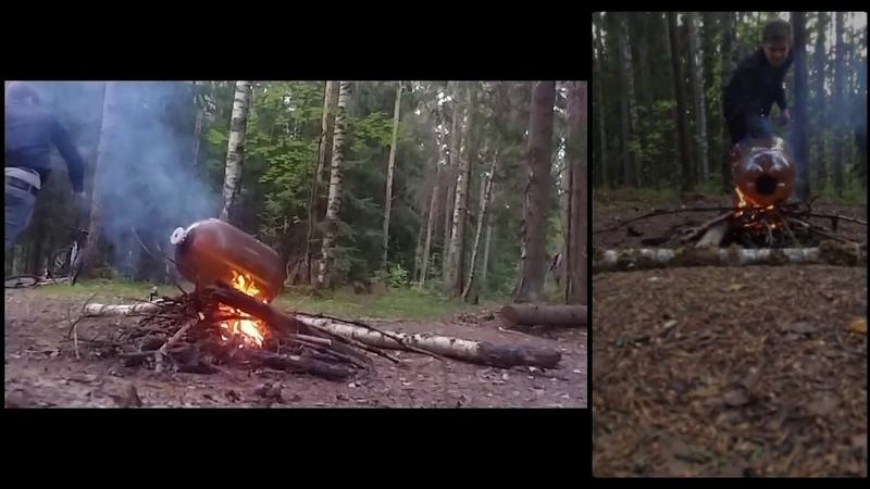 Как быстро потушить костер?/How to put out a bonfire quickly?