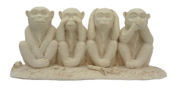 О чем молчат, чего не слышат и чего не видят три обезьяны. Или четыре