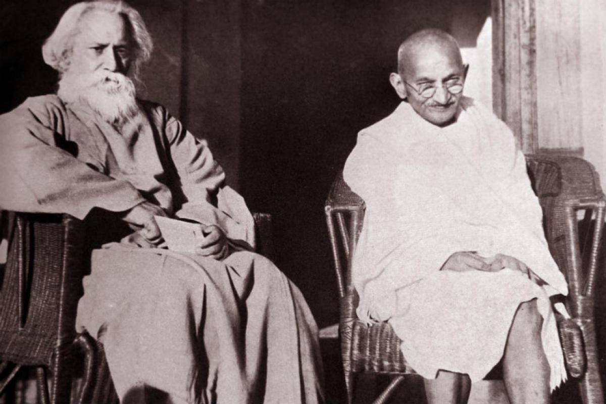 махатма ганди и Рабиндранат Тагор.