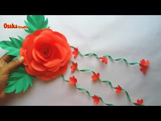 DIY   Wall Hanging Idea!! How to Make Flower Wall Hanging for Home Decoration!! Christmas Decoration