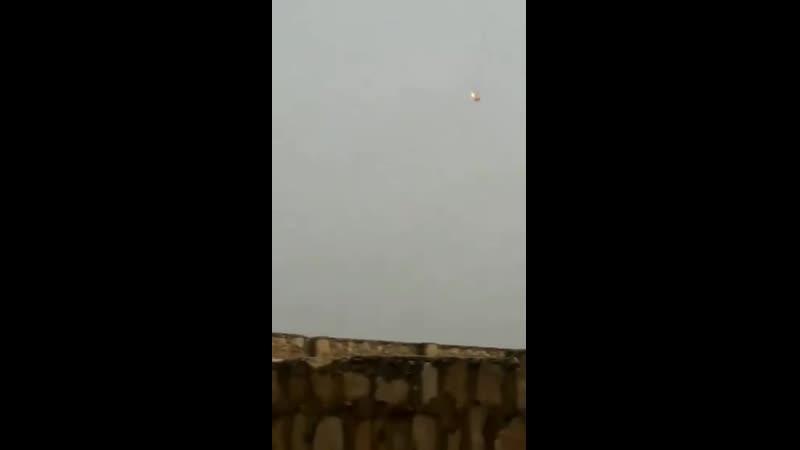 Rejime ait bir helikopter muhalifler tarafından Halep batısında düşürüldü.