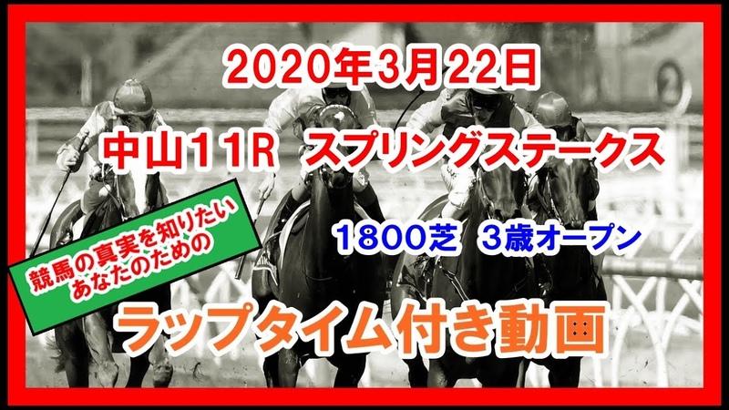 スプリングS 2020年3月22日 中山 11R スプリングステークス ガロアクリーク 1800芝 3歳オープン ラップタイム付き動画