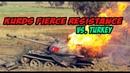 TURKEY VS KURDS TURKS LOST 7 TANKS FIGHTING KURDISH FORCES IN ROJAVA BATTLE