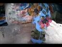 Aula vaso de PET vazado Flor