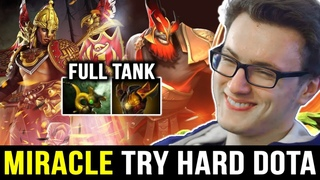 MIRACLE Pro Initiate with Full Tank Build — Try Hard Rank Game Dota 2