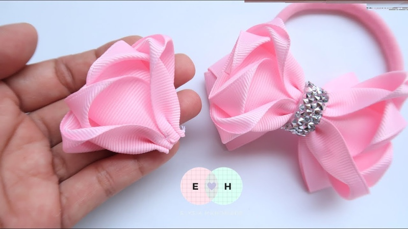Amazing Ribbon Bow - Hand Embroidery Works - Ribbon Tricks Easy Making Tutorial 102