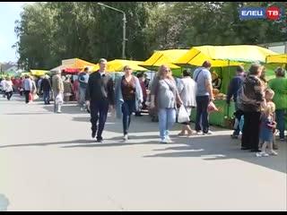 Супермаркет вдоль одной улицы! В Ельце прошла областная торговая ярмарка в честь Дня железнодорожника