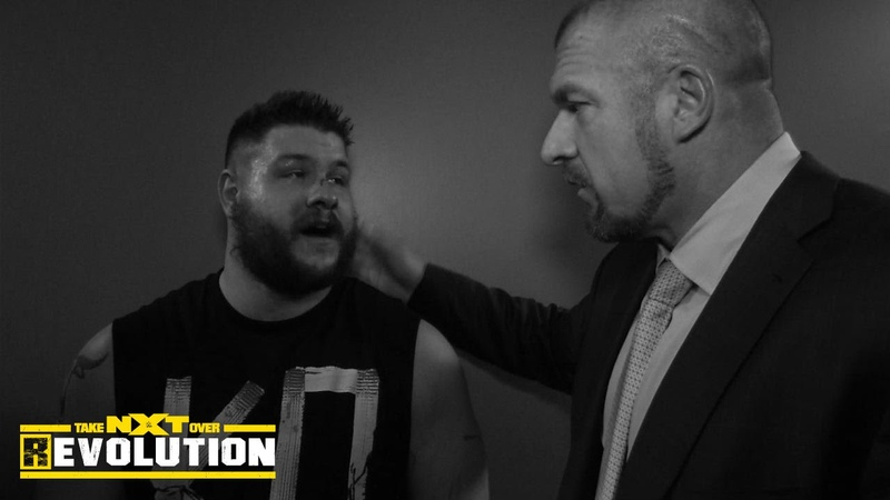 Kevin Owens meets with WWE medical staff and Triple H NXT TakeOver R Evolution, Dec. 11, 2014
