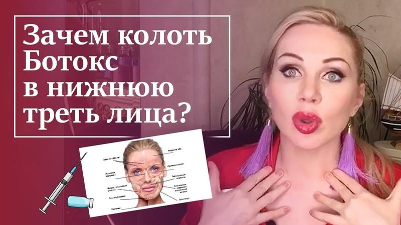 ВАЖНО Куда колоть ботокс Ботокс в нижнюю треть лица стоит ли делать Татьяна Аюпова