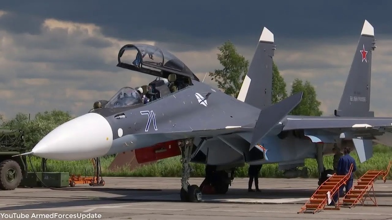 Russian Airforce Military Aircraft conduct training exercise