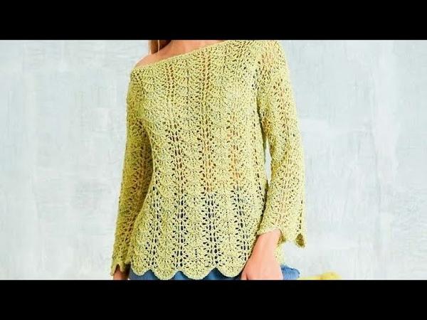 Knitting pullover wavy pattern Wellenmuster des Strickpullovers ถักลายเสื้อสวมหัวหยัก